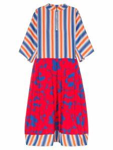 Marni stripe floral print cotton dress - Y5408