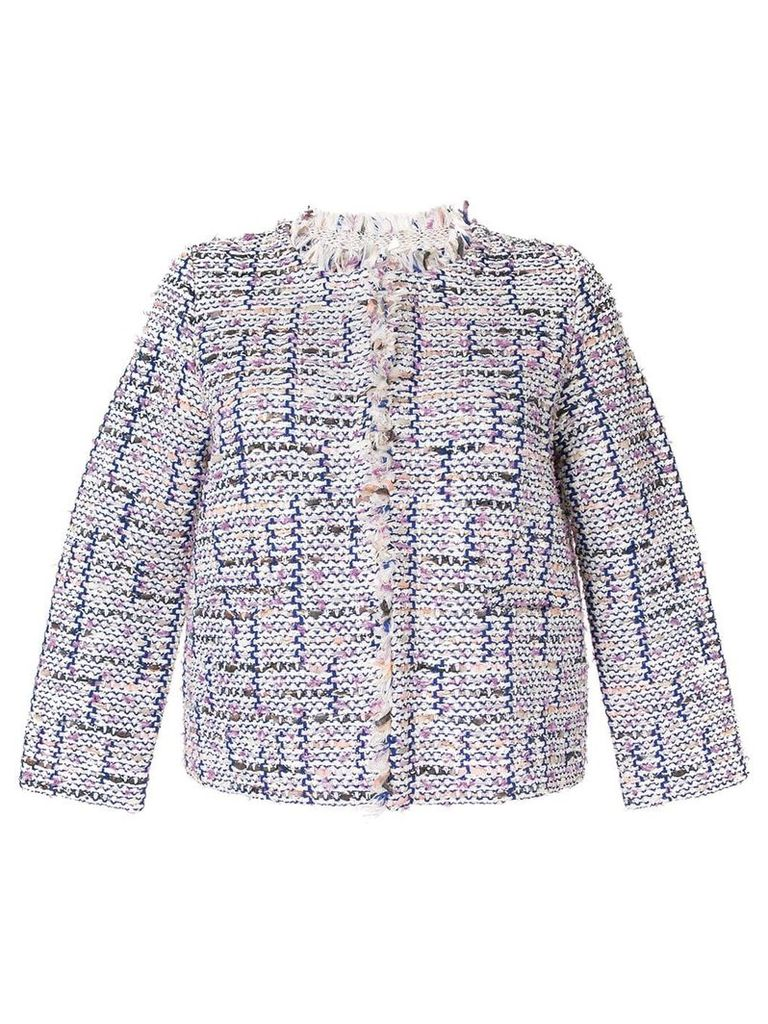 COOHEM tweed jacket - White