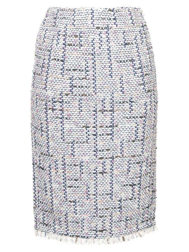 Coohem tweed pencil skirt - Multicolour