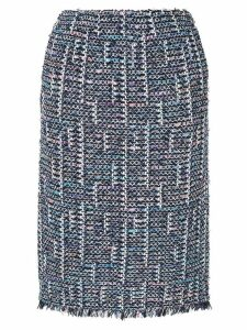 Coohem tweed pencil skirt - Blue