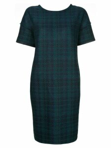 COOHEM tech tweed shift dress - Green