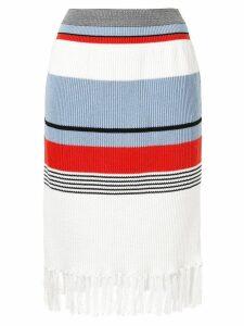 COOHEM striped knit skirt - White