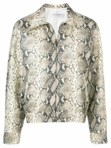 Philosophy Di Lorenzo Serafini snakeskin effect jacket - Neutrals