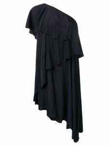 Lanvin asymmetric ruffle trim dress - Blue