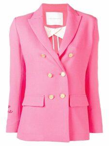 Giada Benincasa Amore embroidered cuff blazer - Pink
