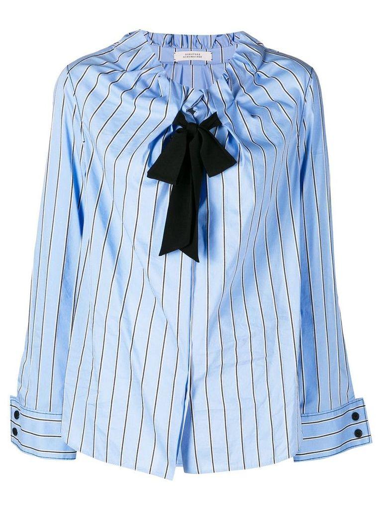 Dorothee Schumacher elasticated neck shirt - Blue