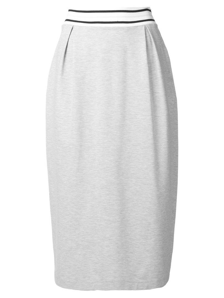 Fabiana Filippi high waisted midi skirt - Grey