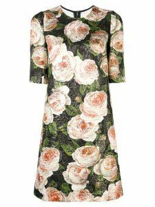 Dolce & Gabbana floral brocade dress - Black