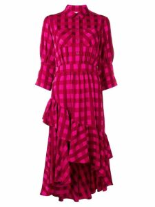 Temperley London Stirling check shirt dress - Pink