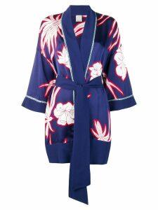 Pinko floral print kimono - Blue