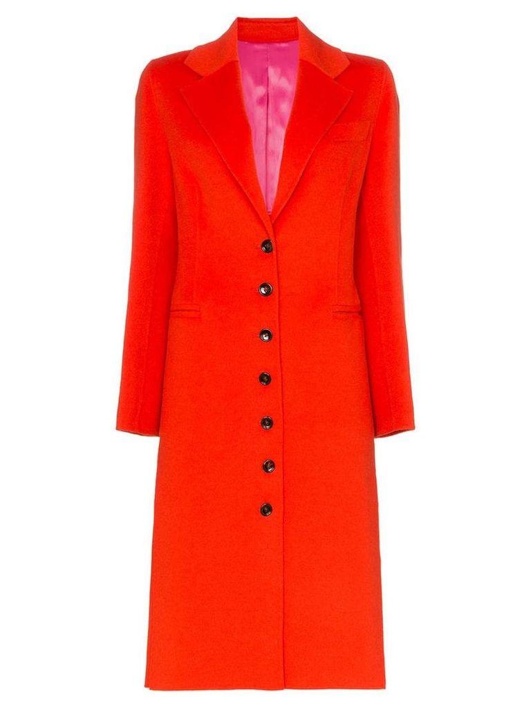 Joseph Marlene single-breasted wool cashmere blend coat - Red