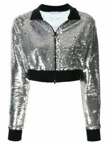 Chiara Ferragni cropped sequinned jacket - Silver