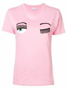 Chiara Ferragni winking eye T-shirt - Pink