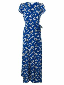 P.A.R.O.S.H. floral print wrap dress - Blue