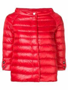 Herno short puffer jacket - Red