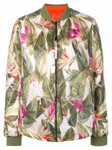 Woolrich leaf bird bomber jacket - Green