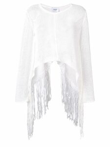 Dondup fringed trapeze sweater - White
