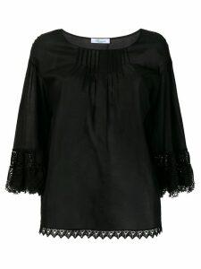 Blumarine scalloped detail blouse - Black