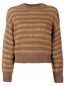 Acne Studios ribbed striped sweater - Brown