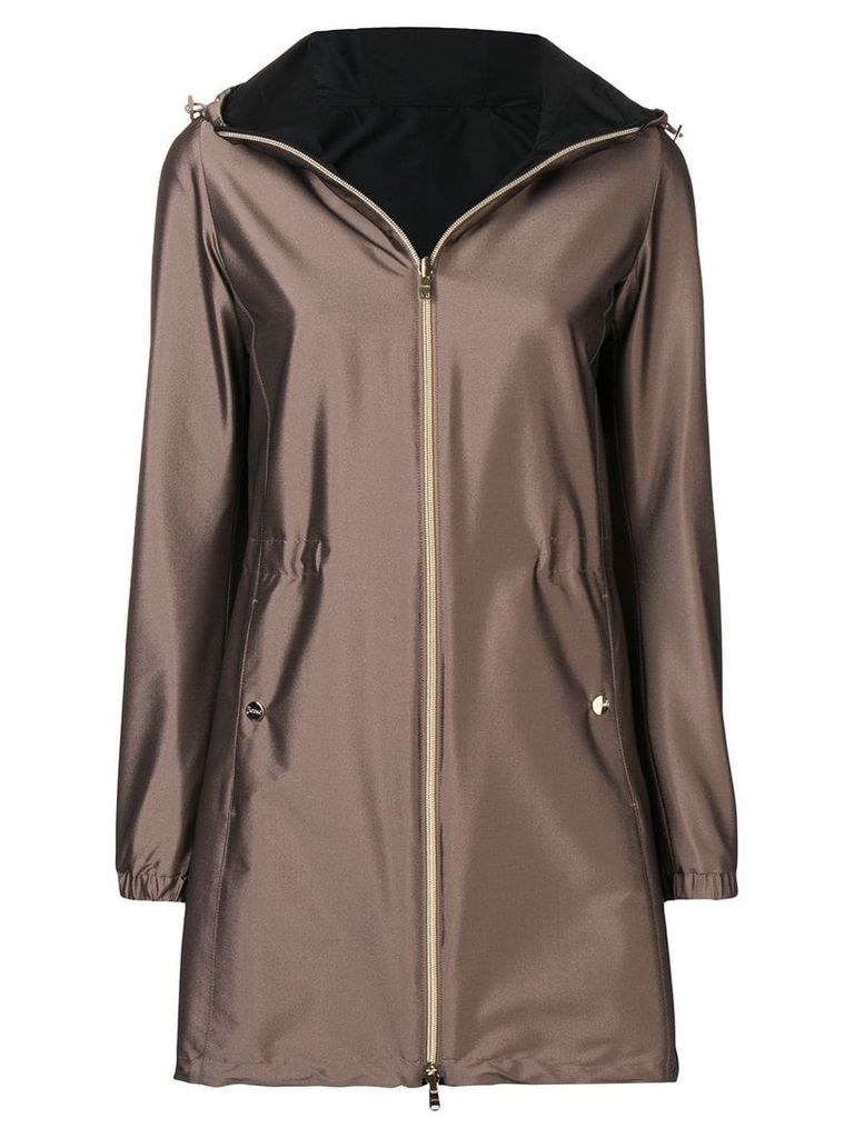 Herno metallic raincoat - Brown