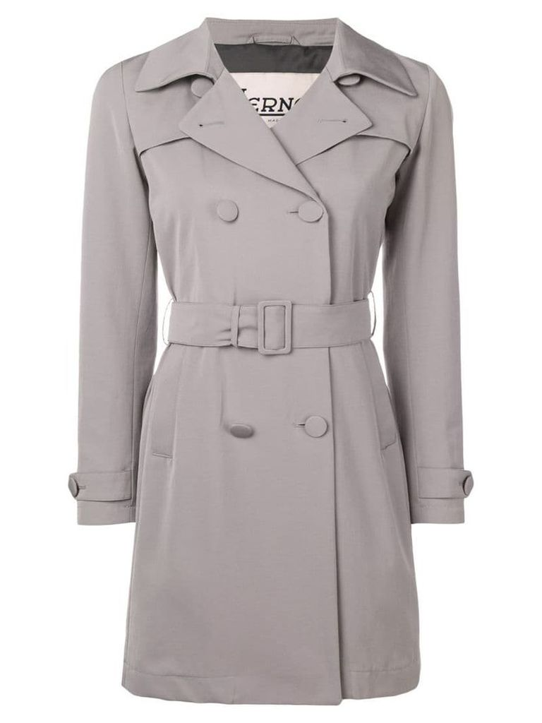 Herno belted trench coat - Grey