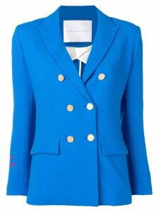 Giada Benincasa Amore embroidered cuff blazer - Blue