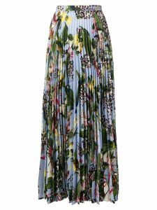 Erdem floral pleated skirt - Blue