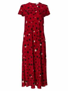 Red Valentino star print maxi dress
