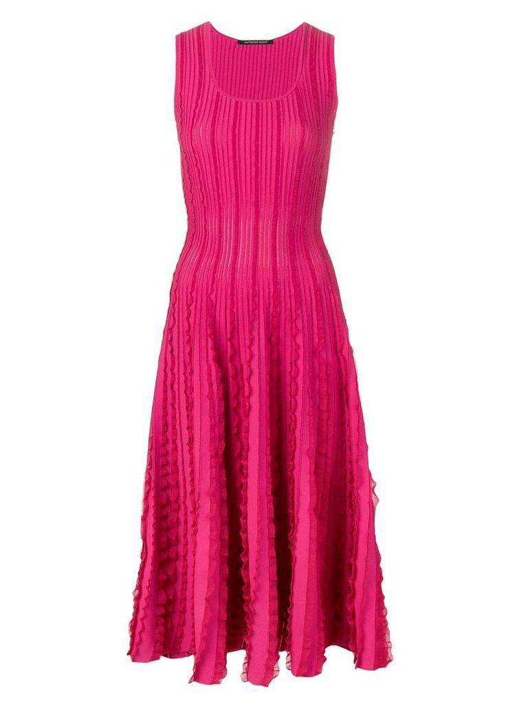 Antonino Valenti ruffle trimming knitted dress - Pink