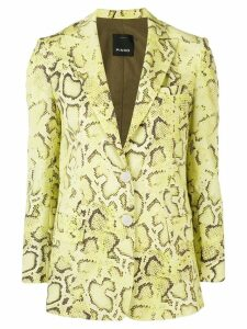 Pinko snakeskin effect blazer - Yellow