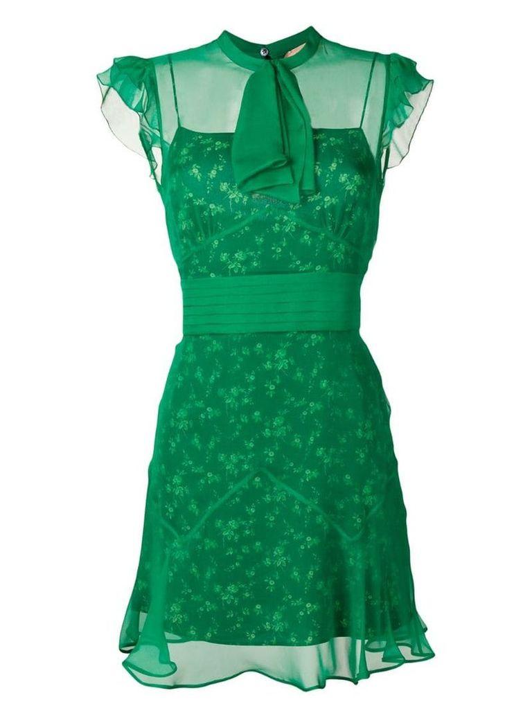 Nº21 pussy bow tea dress - Green