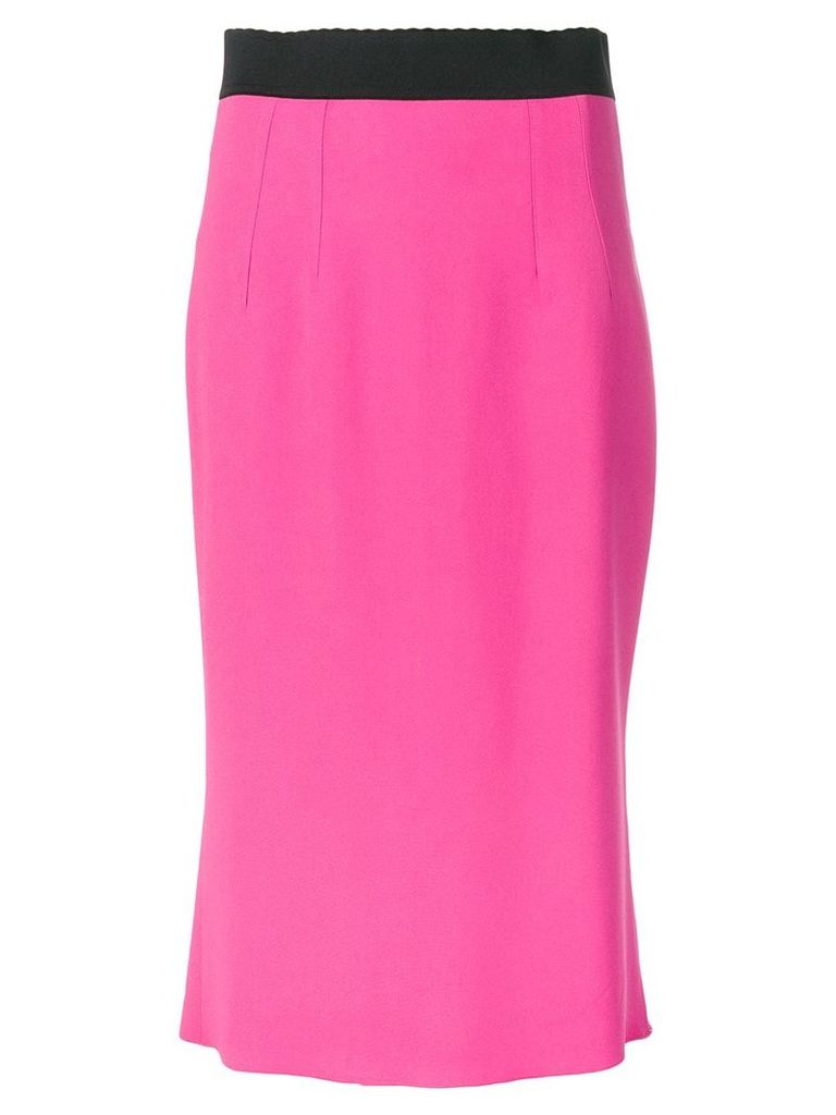 Dolce & Gabbana high waist pencil skirt - Pink