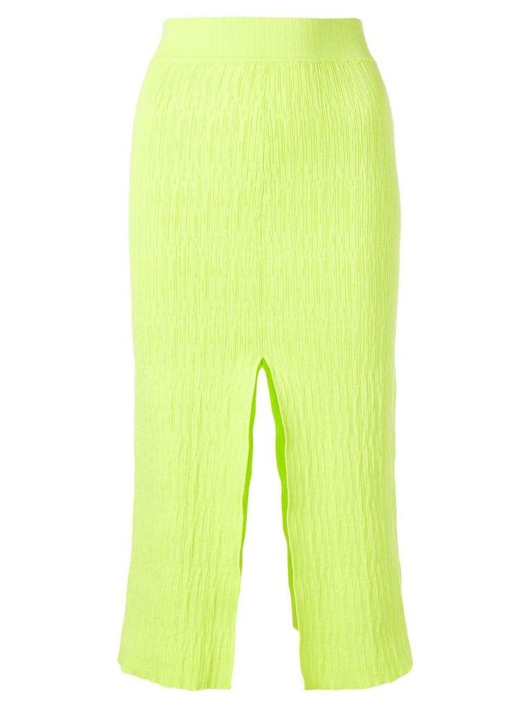 Simon Miller slit detail pencil skirt - Green