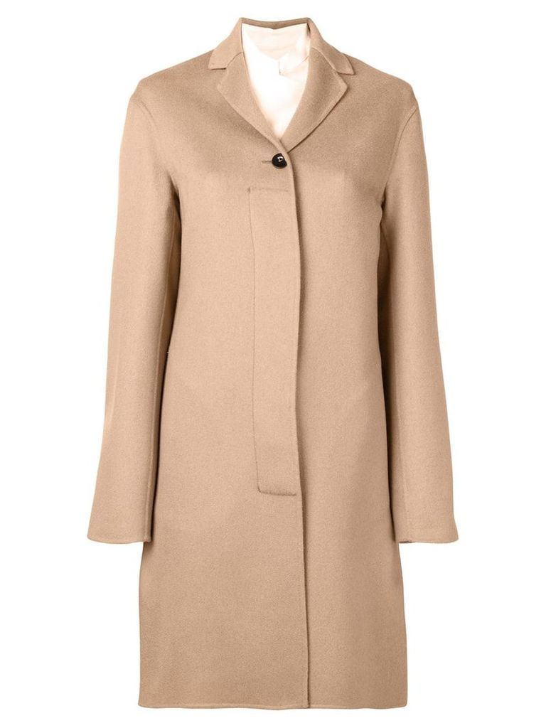 Jil Sander single breasted coat - Neutrals