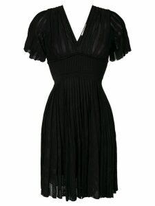 Roberto Cavalli short flared dress - Black