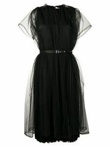 Comme Des Garçons Noir Kei Ninomiya belted tulle dress - Black