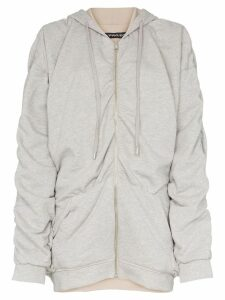 Y/Project reversible gathered detailing hooded jumper - Grey