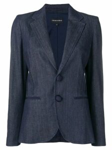 Emporio Armani classic single-breasted blazer - Blue