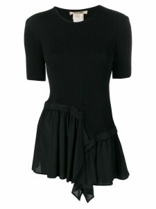 Roberto Cavalli flared blouse - Black