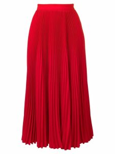 MSGM pleated midi skirt - Red