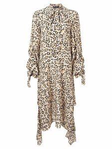 Rokh leopard print maxi dress - NEUTRALS