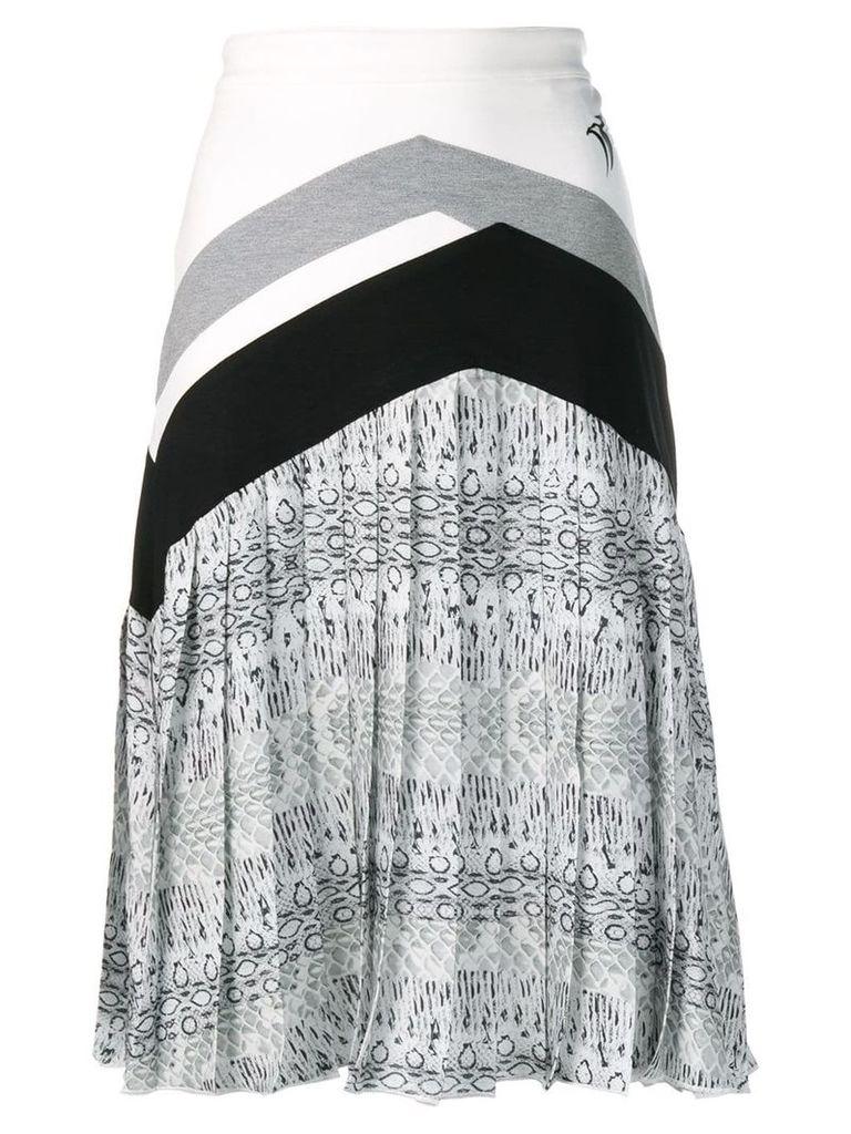 Roberto Cavalli pleated midi skirt - Black