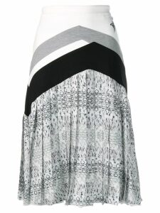 Roberto Cavalli pleated midi skirt - Black