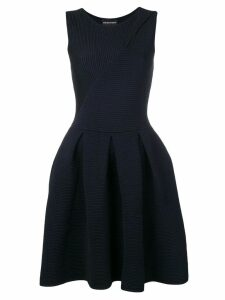 Emporio Armani short ribbed dress - Blue