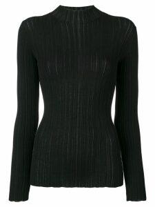 Acne Studios slim fit ribbed sweater - Black
