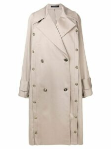 Rokh oversized trench coat - NEUTRALS