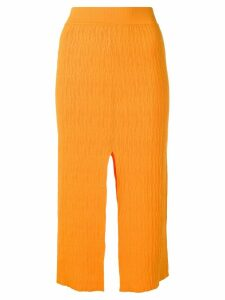 Simon Miller slit detail pencil skirt - Orange