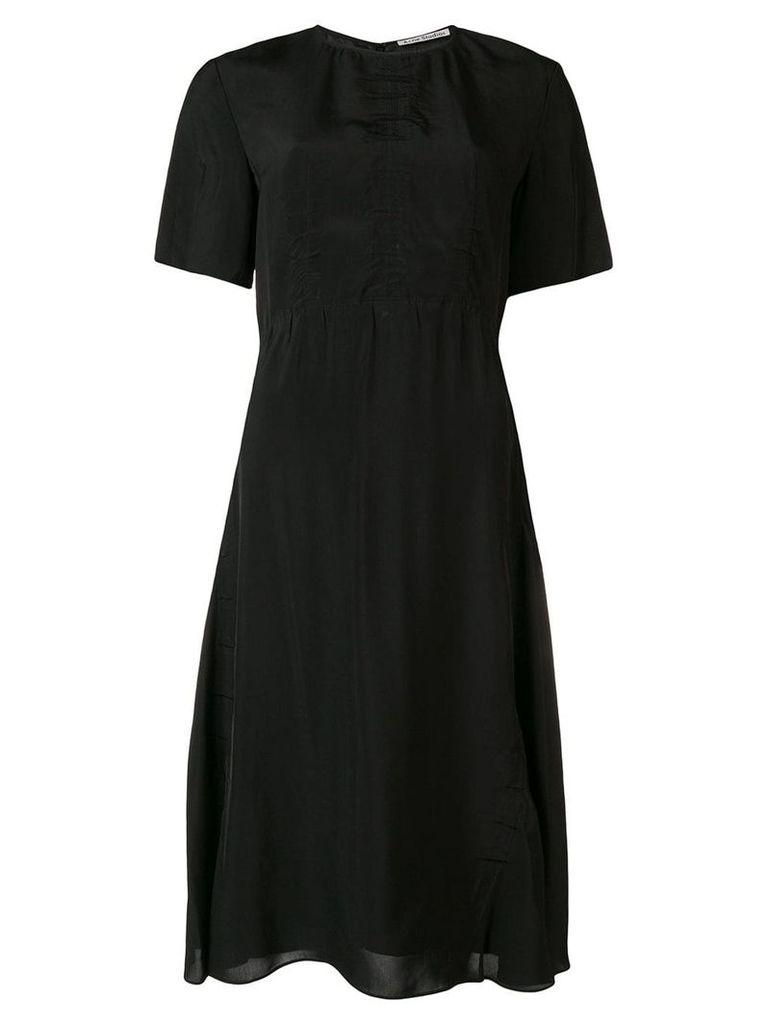 Acne Studios shirred short sleeve dress - Black