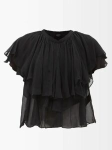 Anaak - Devika Tie Waist Gingham Cotton Skirt - Womens - Pink Print