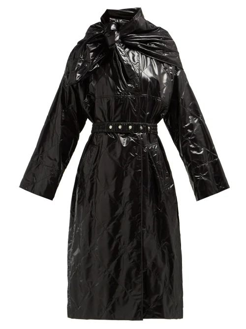2 Moncler 1952 - Canberra Diamond Quilted Coat - Womens - Black